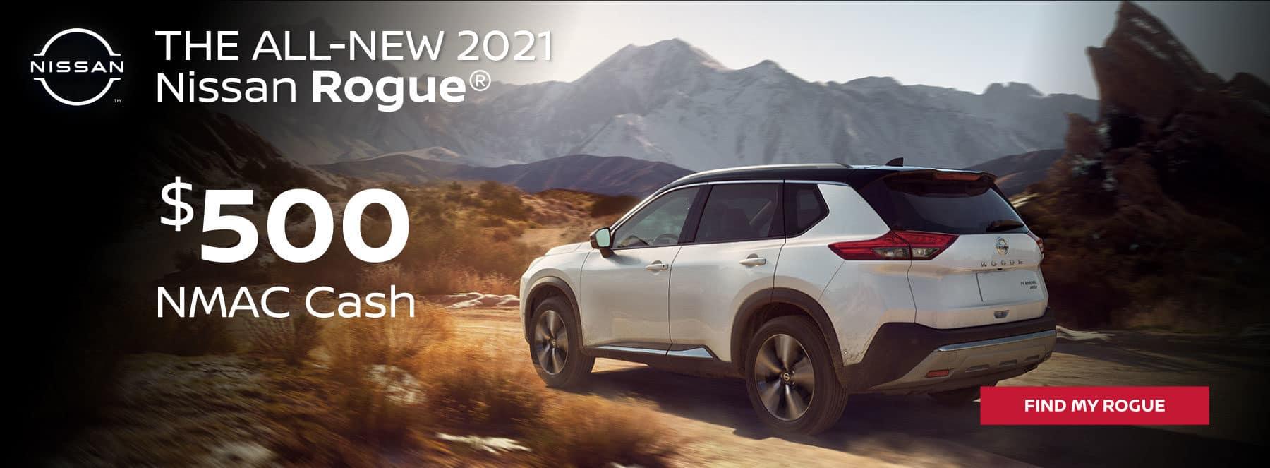 2021 Nissan Rogue $500 NMAC Cash