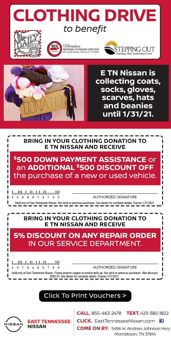 East Tennessee Nissan Clothing Drive