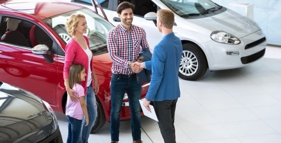 Family Buying a Used Car