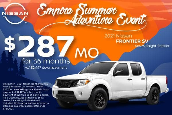 New 2021 Nissan Frontier Offers for Denver