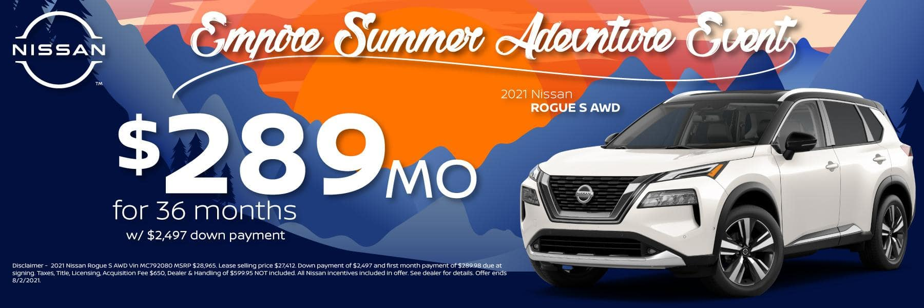 Best New 2021 Nissan Rogue Lease and Purchase Specials in Denver, CO