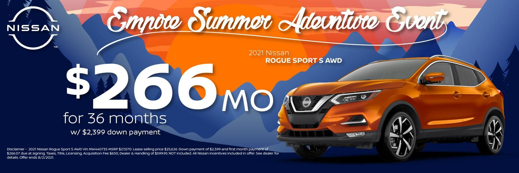Best New 2021 Nissan Rogue Sport Lease and Purchase Specials in Denver, CO