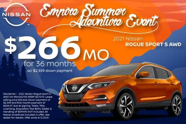 New 2021 Nissan Rogue Sport Offers for Denver