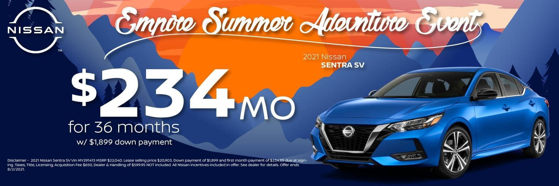 Best new 2021 Nissan Sentra Lease and Purchase Specials in Denver and Littleton, CO