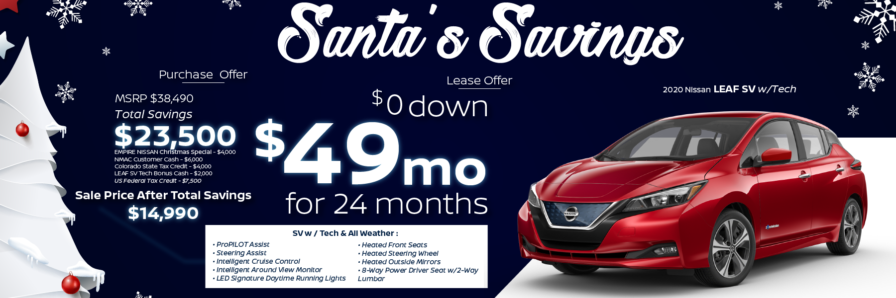 Best 2020 Nissan Leaf Lease and Purchase Specials in Denver, CO