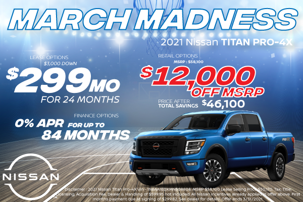 New 2021 Nissan Titan Offers for Denver