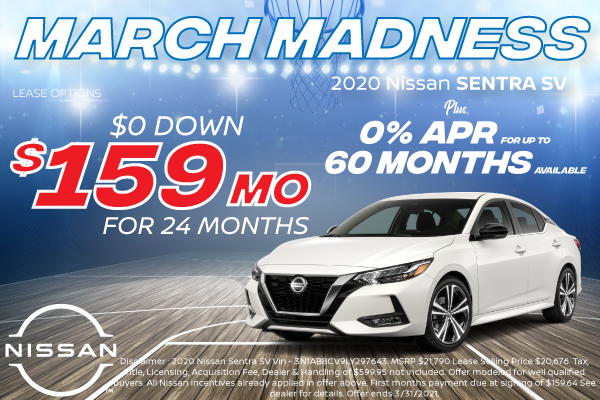 New 2020 Nissan Sentra Local Offers for Denver