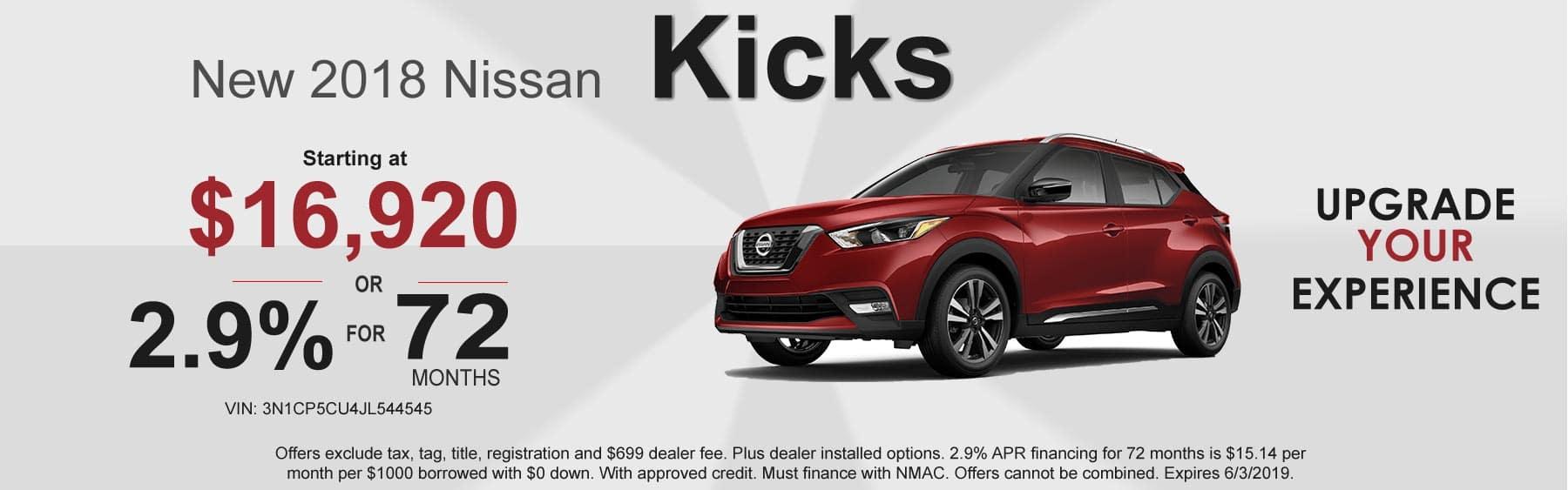 2018 Nissan Kicks offers - Kicks for sale in Boone