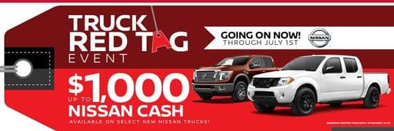 Nissan Titan and Frontier Truck Red Tag Sale