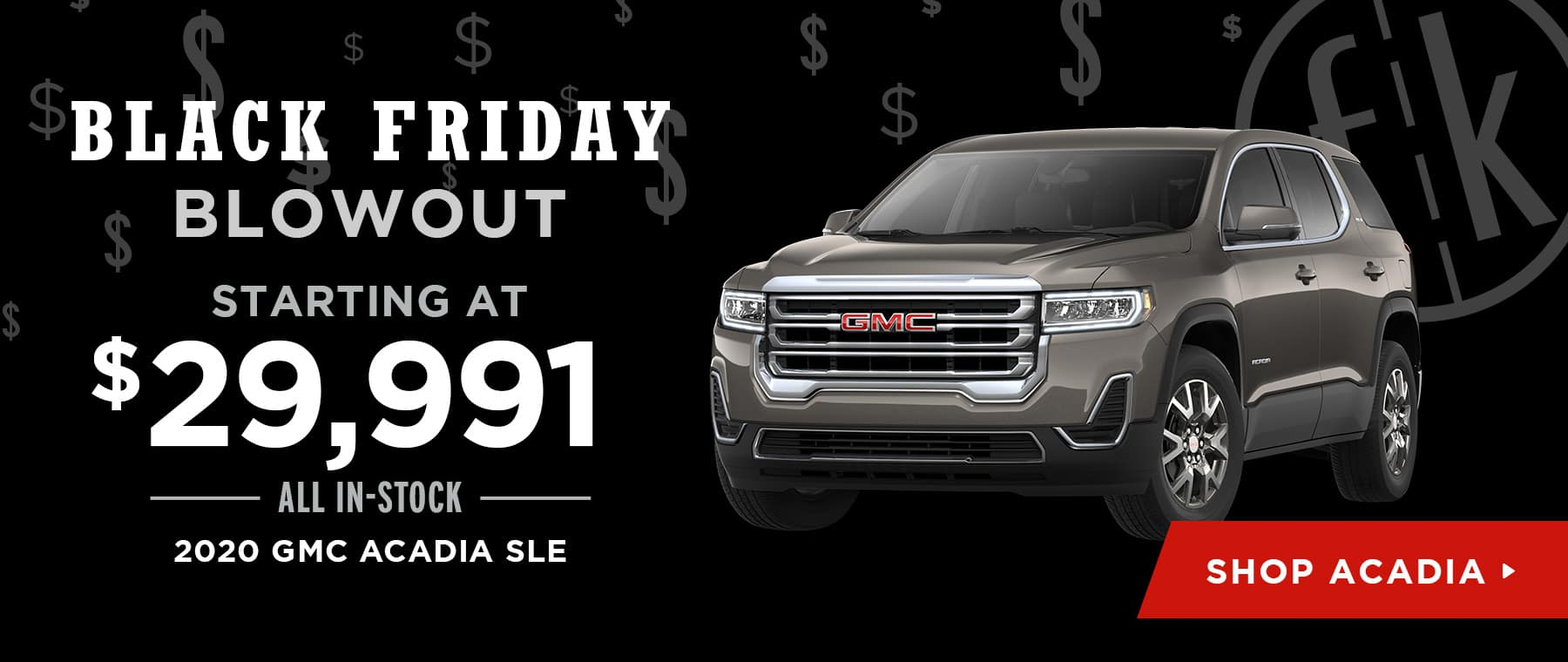 Starting at $29,991 All In-Stock 2020 GMC Acadia SLE