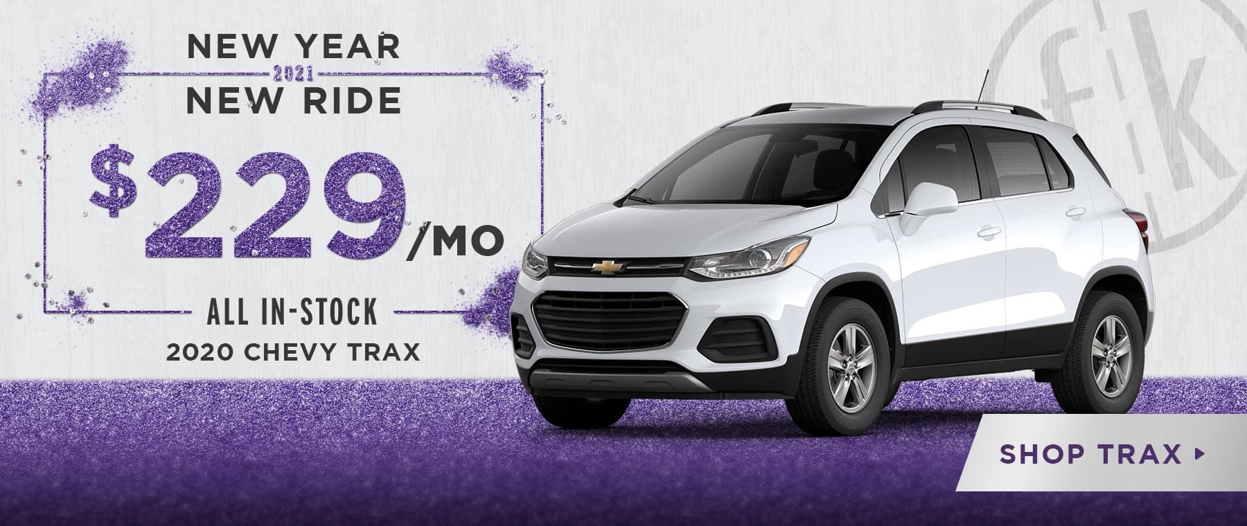 $229/mo 2020 Trax