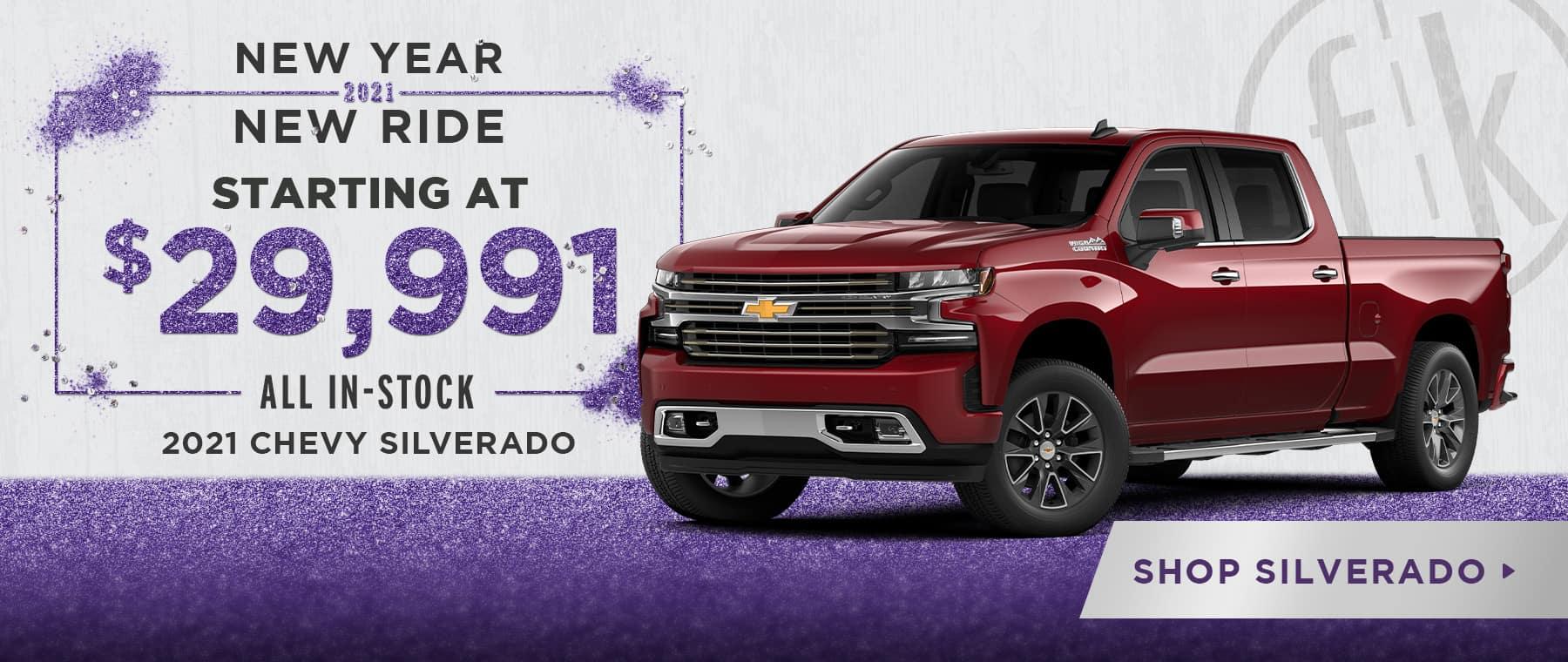2021 Chevy Silverado Starting At $29,991