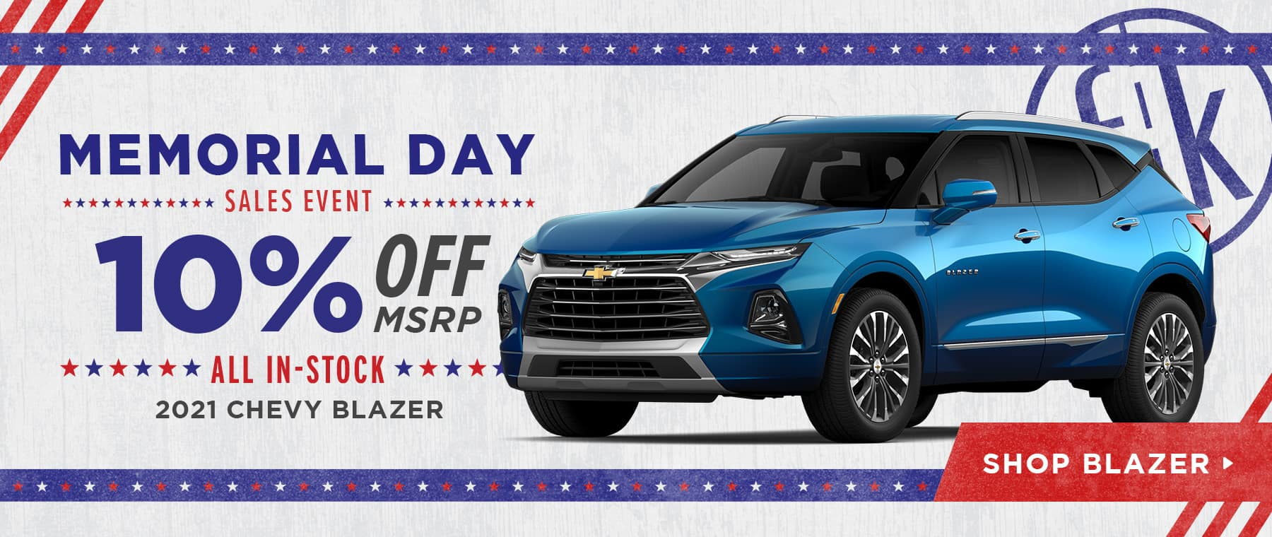 10% Off All In-Stock 2021 Chevy Blazer