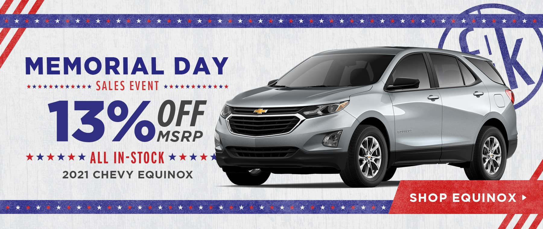 13% Off All In-Stock 2021 Chevy Equinox