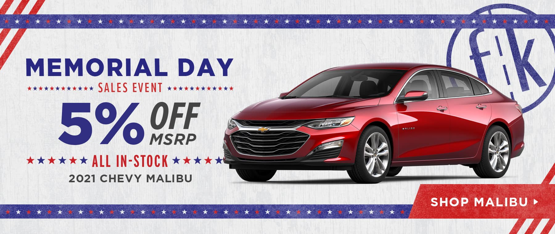 5% Off All In-Stock 2021 Chevy Malibu