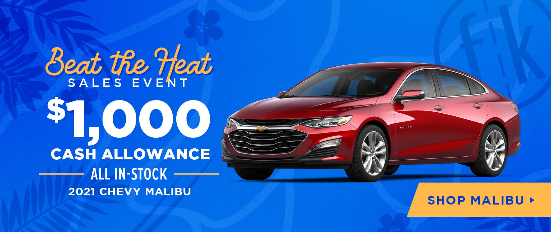 $1,000 Cash Allowance All In-Stock 2021 Chevy Malibu