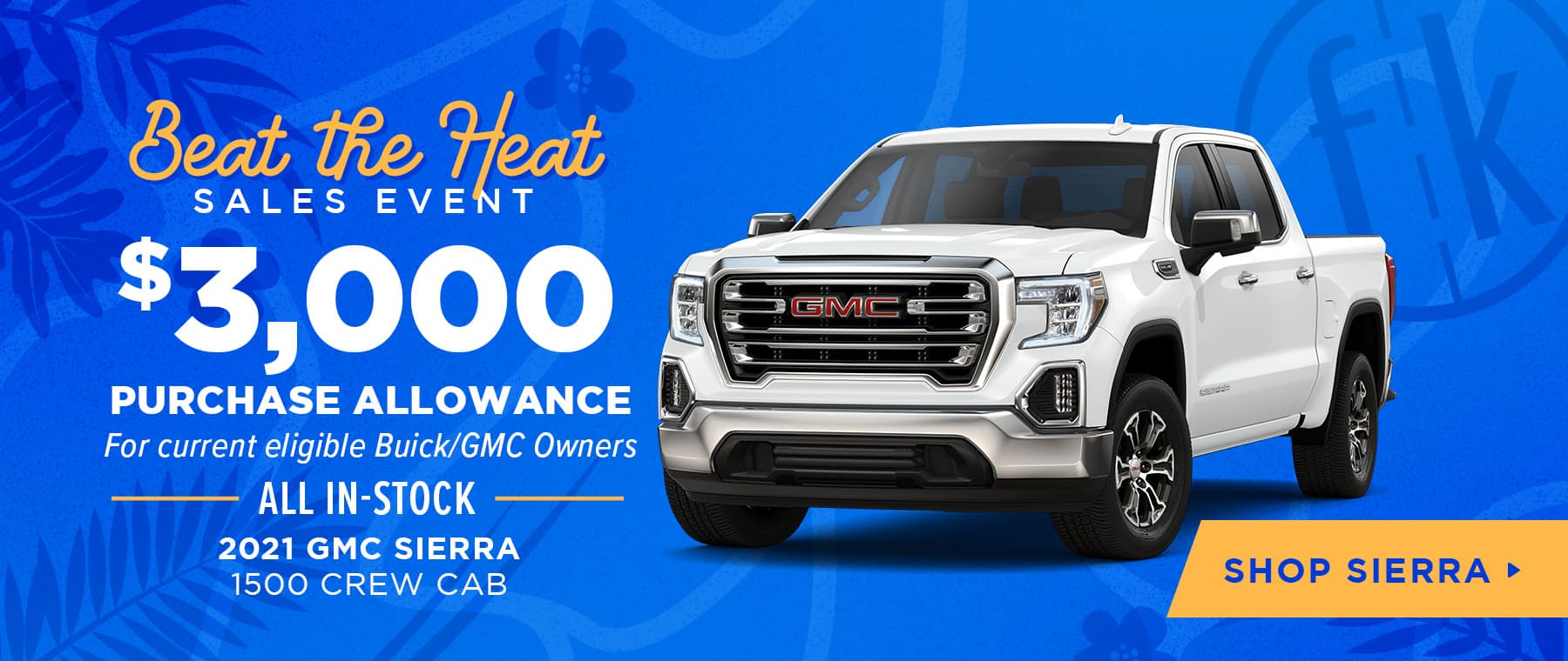 $3,000 Purchase Allowance For Current Eligible Buick/GMC Owners All In-Stock 2021 GMC Sierra 1500 Crew Cab