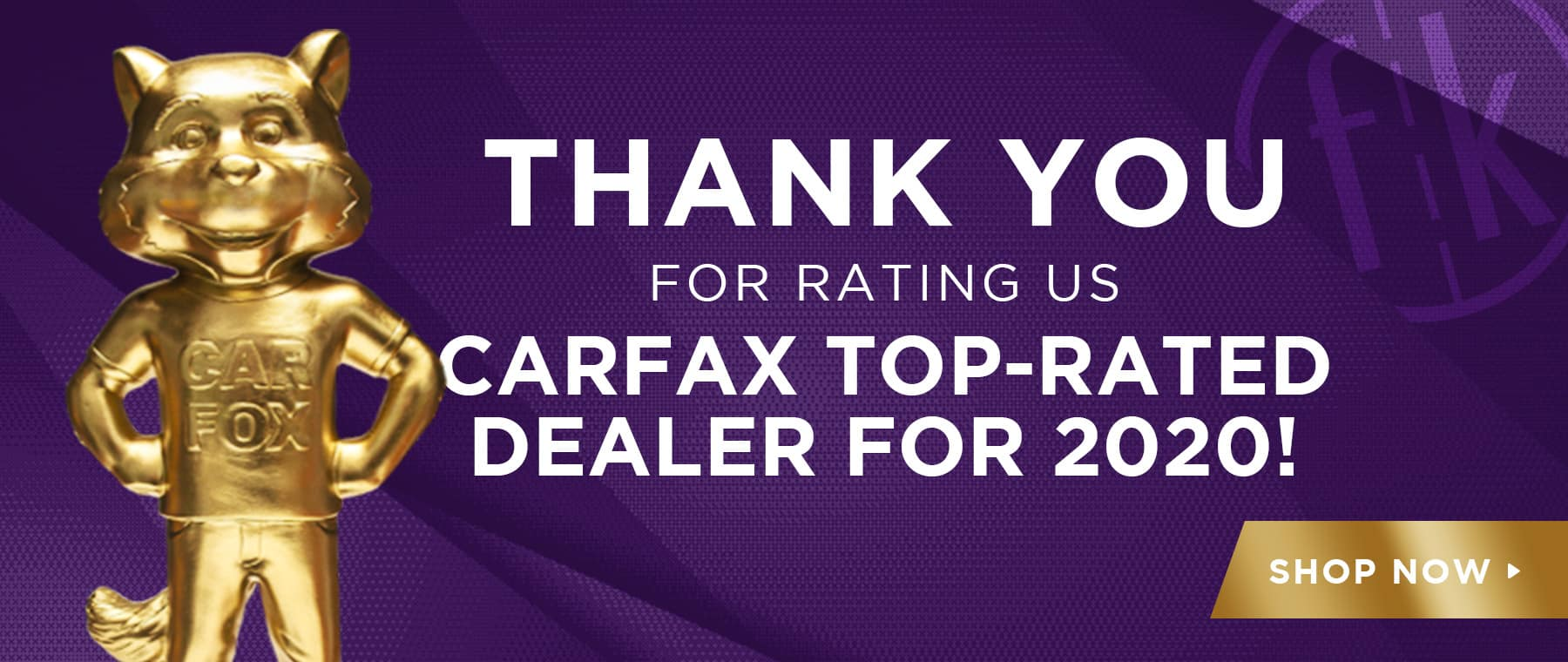 Thank You For Rating Us CARFAX Top-Rated Dealer for 2020!