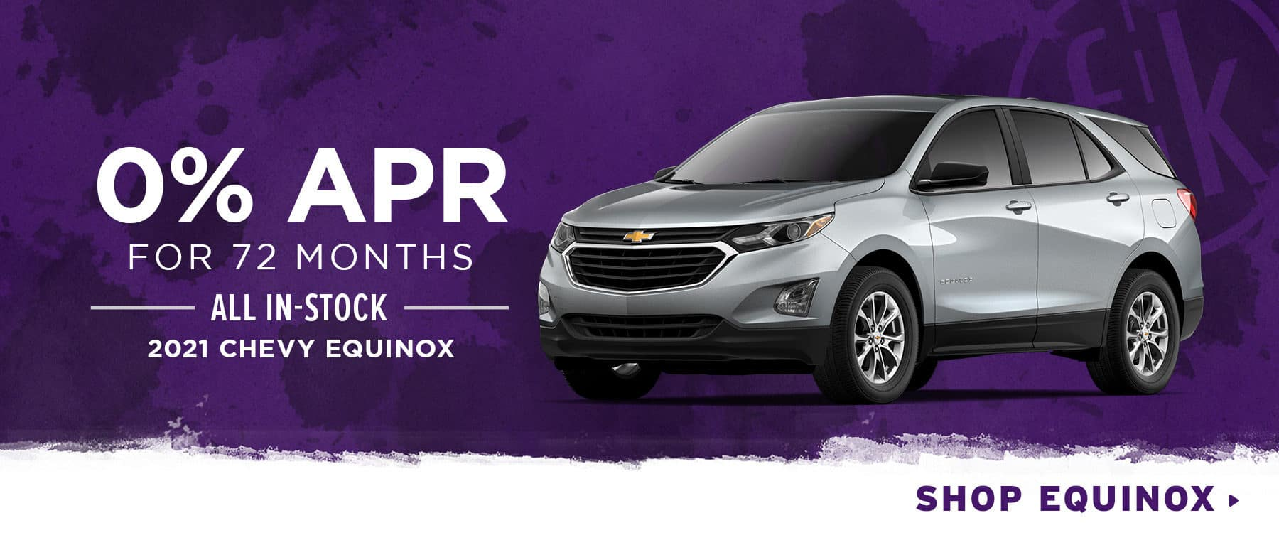 0% for 72 mos. All In-Stock 2021 Chevy Equinox