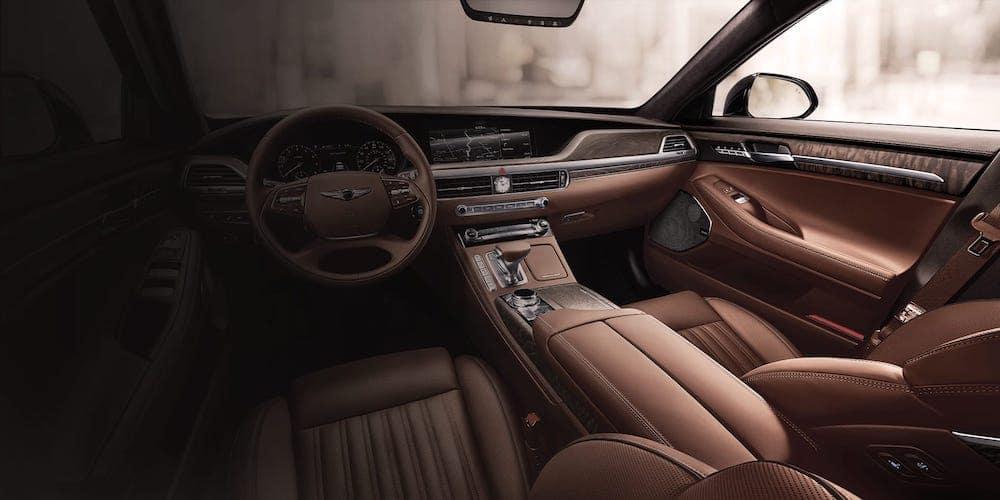 Genesis G90 Brown Interior