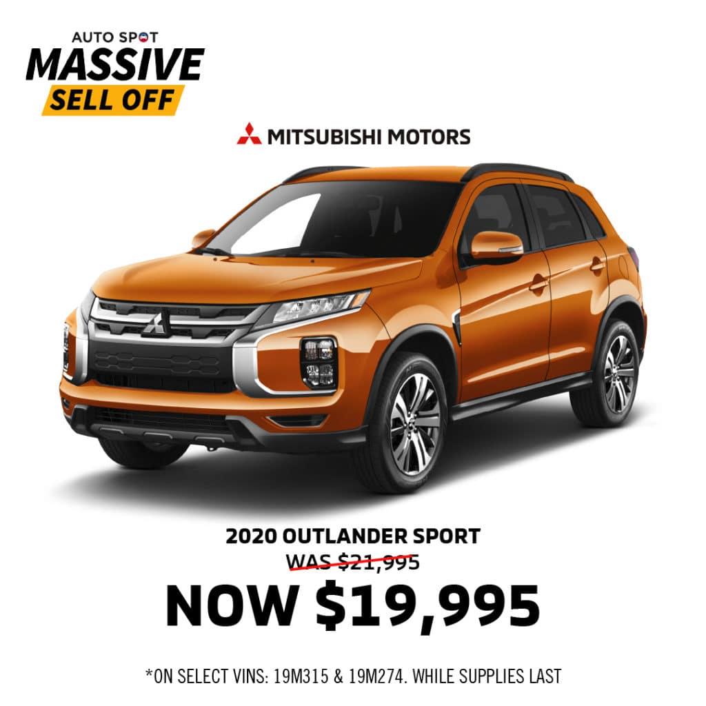 $2000 Off 2020 Outlander Sport