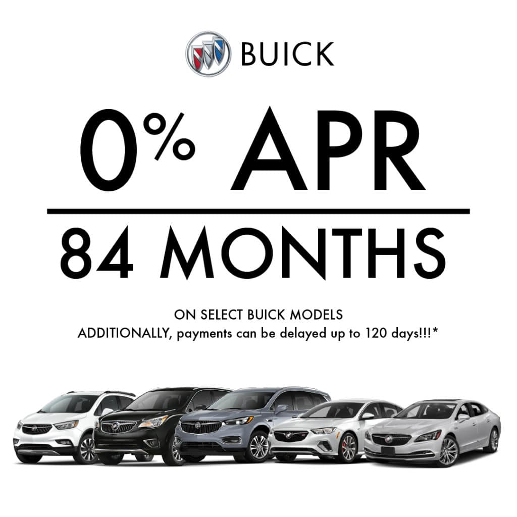 0% APR for 84 Months on select Buick Models