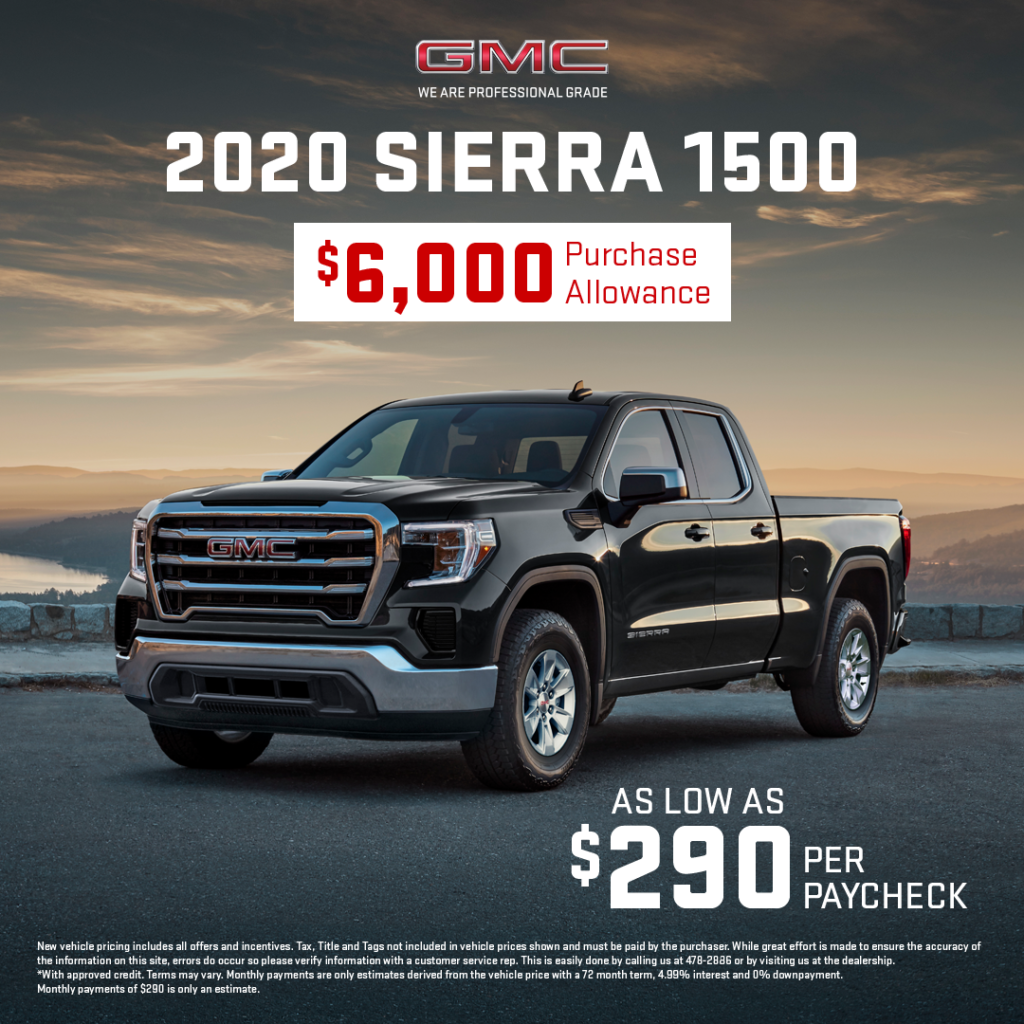 2020 GMC Sierra Special Offer
