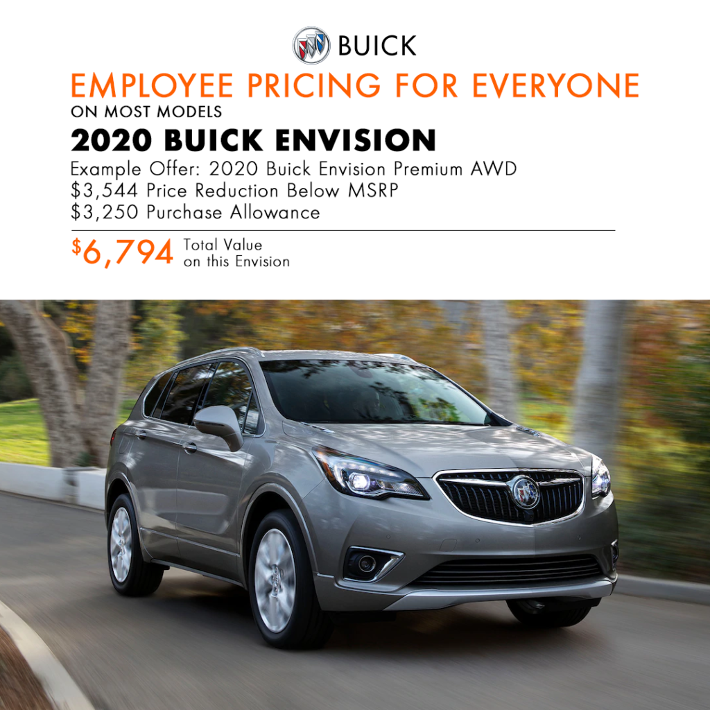 2020 Buick Envision Special Offer