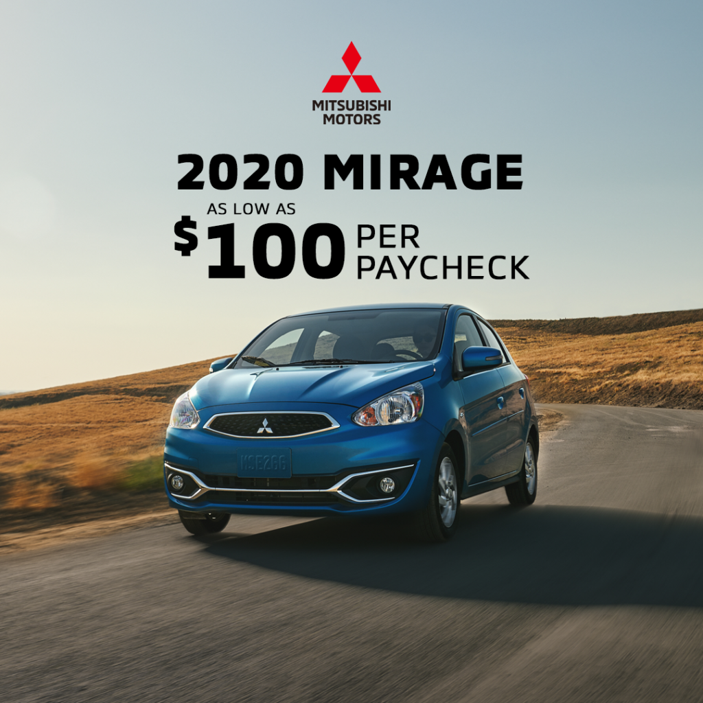 2020 Mitsubishi Mirage Special Offer