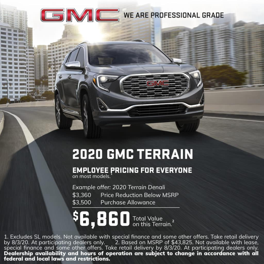 2020 GMC Terrain Special Offer