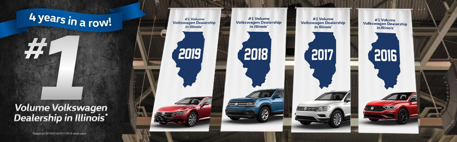Number One Volkswagen Dealership in IL - 4 Years in Row!