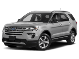 2019 Ford Explorer angled silver