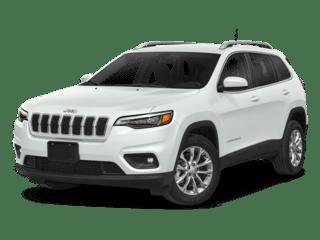 2019 Jeep Cherokee white angled