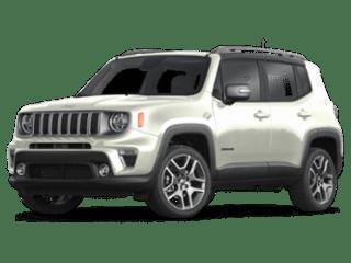 2019 Jeep Renegade white angled