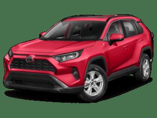 2019 Toyota RAV4 red angled