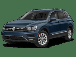 2019 Volkswagen Tiguan blue angled