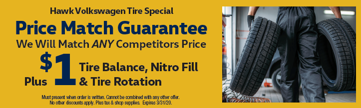 Price Match Guarantee Hawk VW will match any competitors price