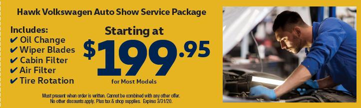 Hawk VW Auto Show Service Package