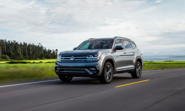2020 Volkswagen Atlas driving on a rural highway