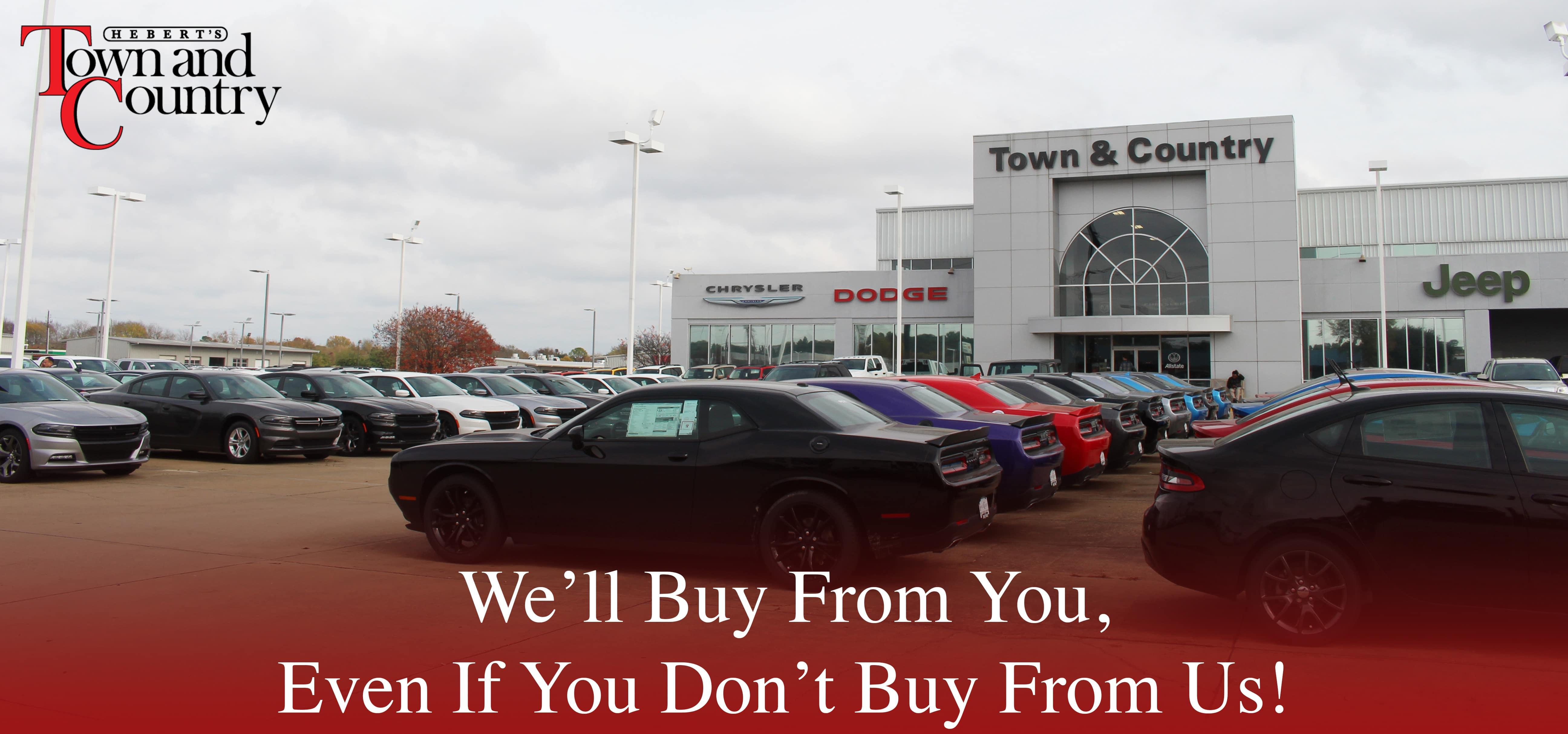 We Buy | Hebert\'s Town & Country Chrysler Dodge Jeep Ram