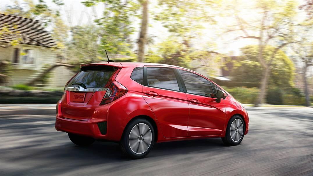 2016 Honda Fit Rear Exterior Red