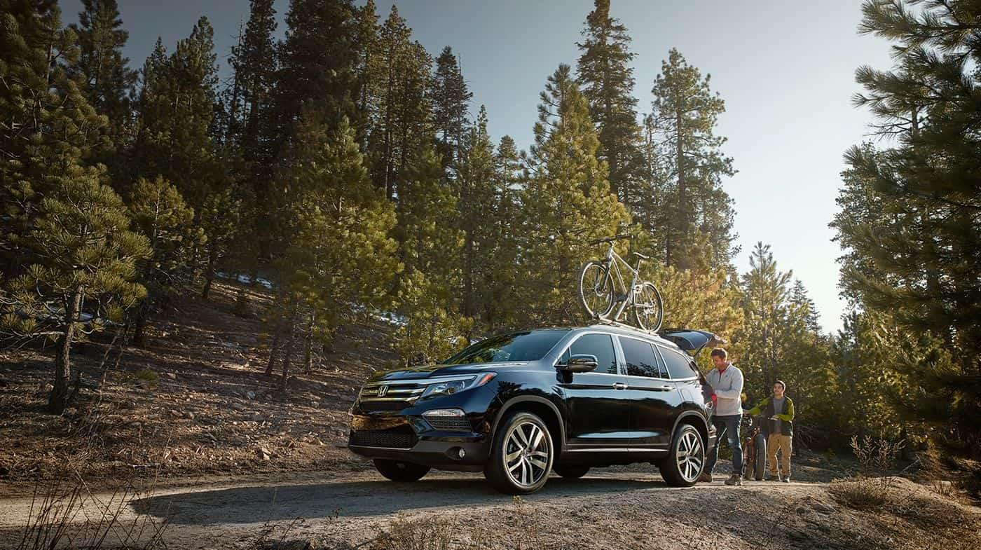 2016 Honda Pilot Black Side Exterior Bike