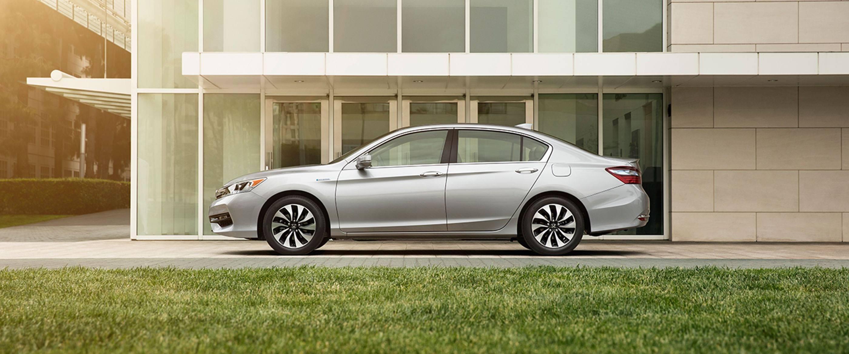 2017 Honda Accord Hybrid Silver Side Exterior