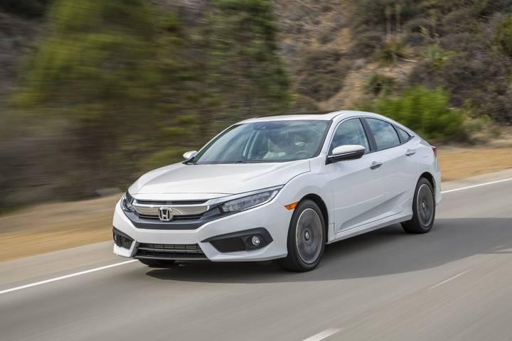 2017 Honda Civic Sedan EX White Front Exterior