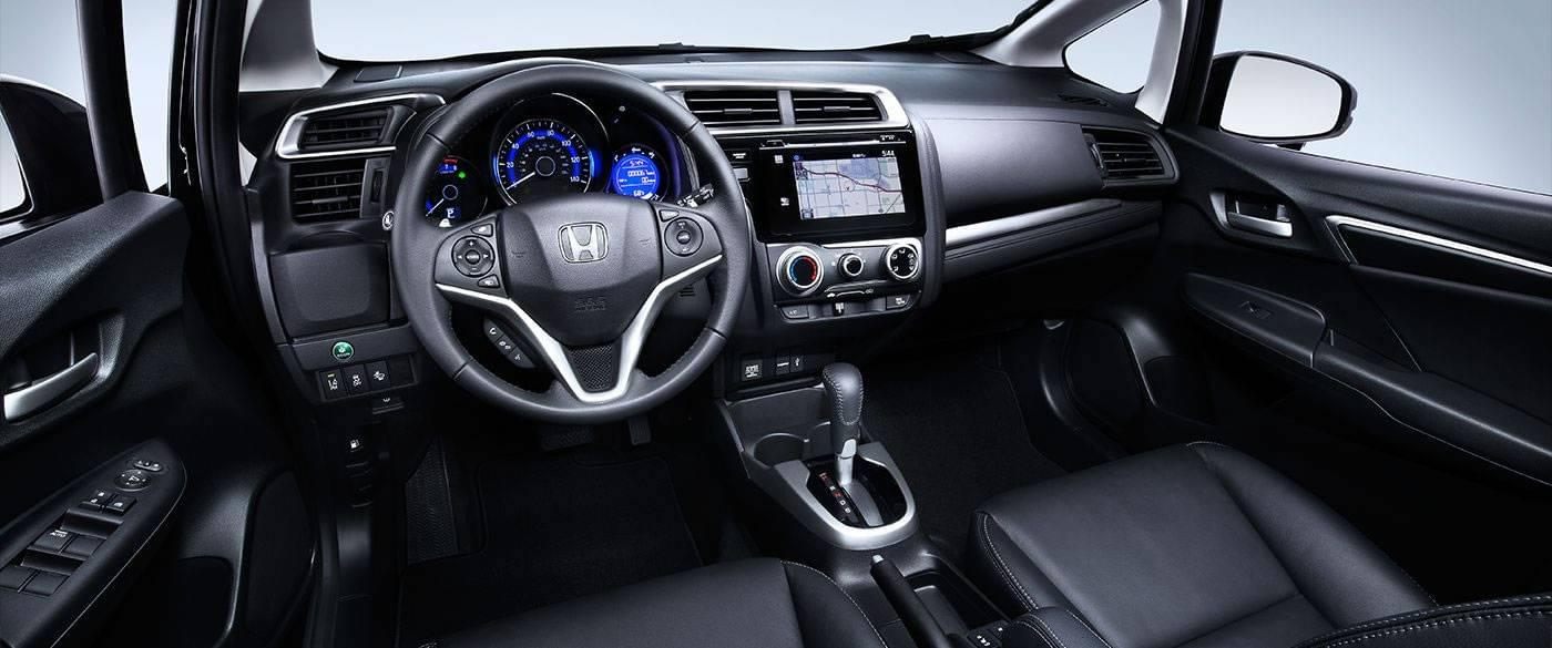 2017 Honda Fit EX-L Black Dashboard Interior