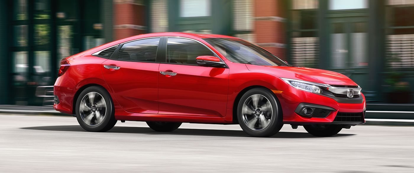 2017 Honda Civic Sedan EX-T Red Exterior Side View