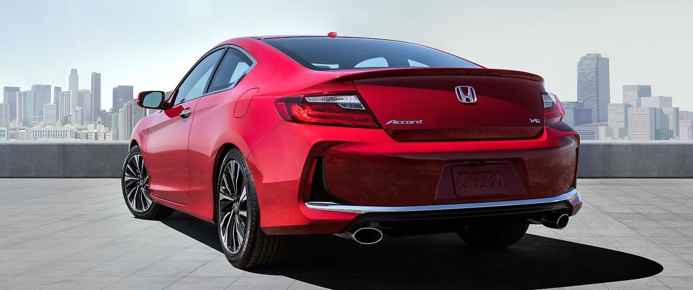 2017 Honda Accord Coupe Red Exterior Back View