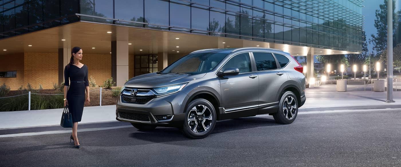 2017 Honda CR V EX Gray Exterior Front Side View
