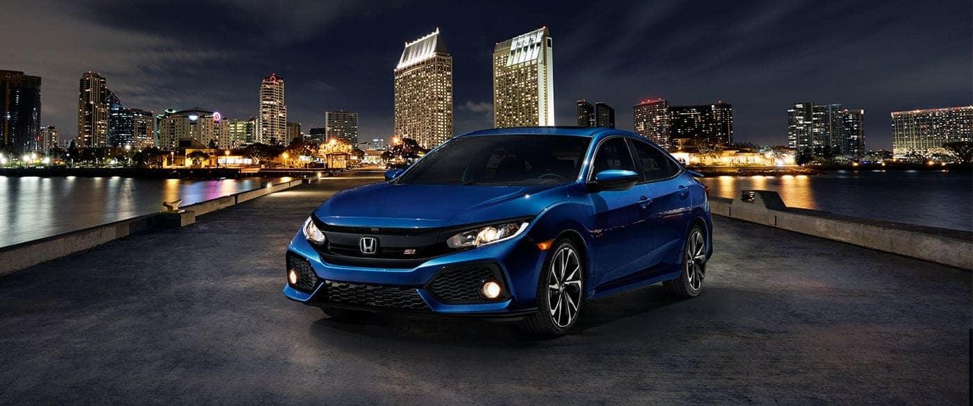 2017 Honda Civic Sedan Si Front Blue -Exterior