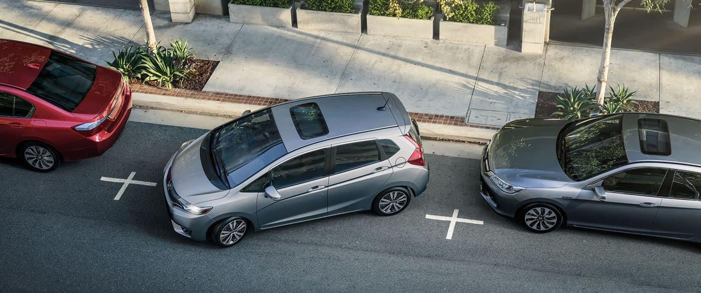 2017 Honda Fit EX Silver Exterior Reversing Overhead View